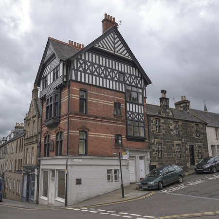 View of buildings along street, Stirling, Scotland Editorial