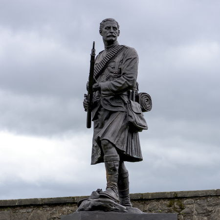 Statue of soldier at Stirling Castle, Stirling, Scotland