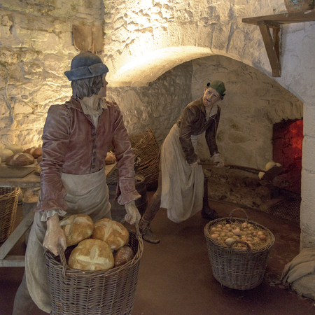 likeness: Statues at medieval kitchen in Stirling Castle, Stirling, Scotland