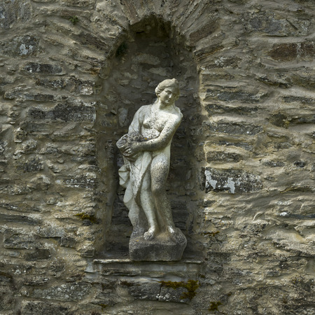 scottish female: Statue on wall, Blair Castle, Blair Atholl, Perthshire, Scotland