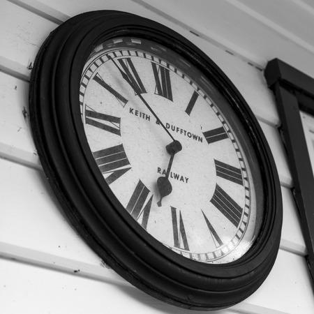 keith: Clock on wall, Keith, Moray, Scotland