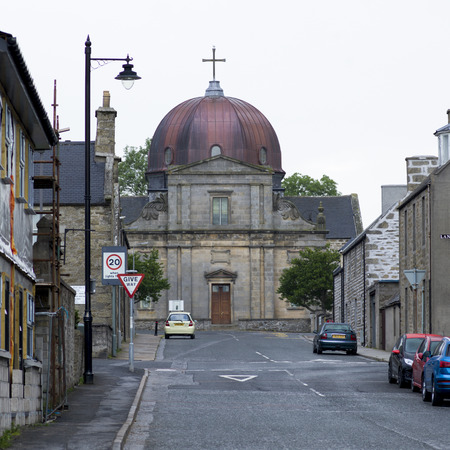keith: View of church and buildings in town, Keith, Moray, Scotland