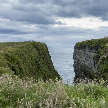 headland: View of headland at coast, John O Groats, Caithness, Scottish Highlands, Scotland Stock Photo