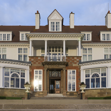 entranceway: Facade of the Turnberry Hotel, Turnberry, South Ayrshire, Scotland Editorial