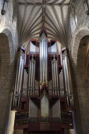 Pipe Organ in the St Giles Cathedral, Edinburgh, Scotland