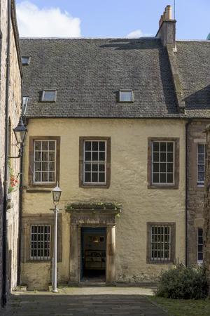 roof windows: Facade of a house, Royal Mile, Edinburgh, Scotland Editorial