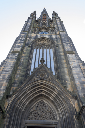 scottish culture: Low angle view of a church, North Bank Street, Edinburgh, Scotland
