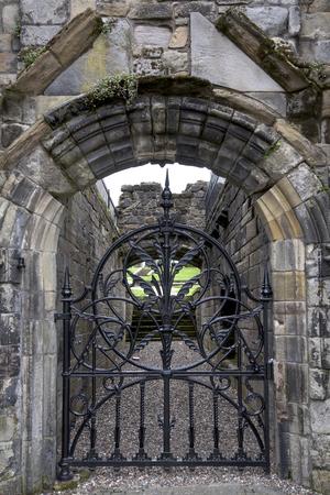 entranceway: Medieval building metal gate, Stirling, Scotland