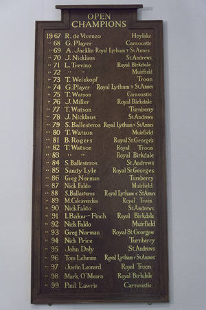 andrews: List of winners at Old Course at St Andrews, St Andrews, Fife, Scotland