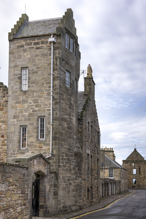 scottish culture: View of buildings along street, North Castle Street, St Andrews, Fife, Scotland