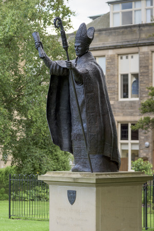 likeness: Statue at St Marys College, St Andrews, Fife, Scotland