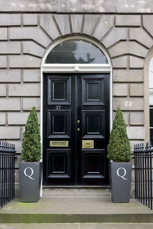entranceway: Architectural detail of doorway, Edinburgh, Scotland Editorial
