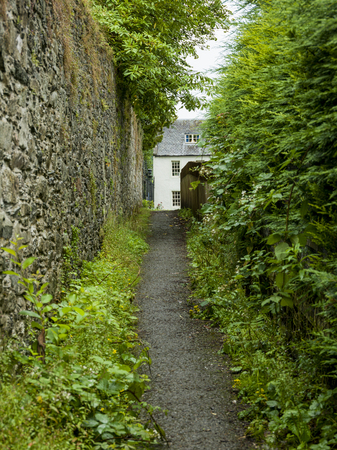 residential structure: Pathway leading toward a house, Dunkeld, Perth and Kinross, Scotland