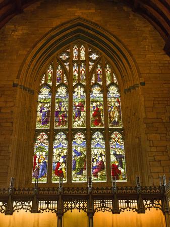 stained glass windows: Stained Glass Windows of the Dunkeld Cathedral, Dunkeld, Perth and Kinross, Scotland