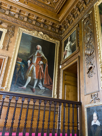 Paintings on wall at Blair Castle, Blair Atholl, Perthshire, Scotland