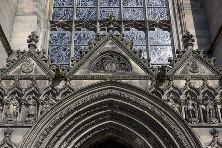 scottish culture: Architectural detail of the St Giles Cathedral, Edinburgh, Scotland Stock Photo