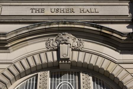 usher: Architectural detail of Usher Hall, Edinburgh, Scotland