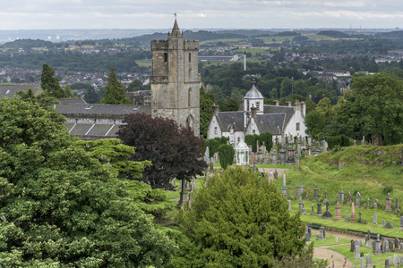 Elevated view of the Church of the Holy Rude, Stirling, Scotland Stock Photo