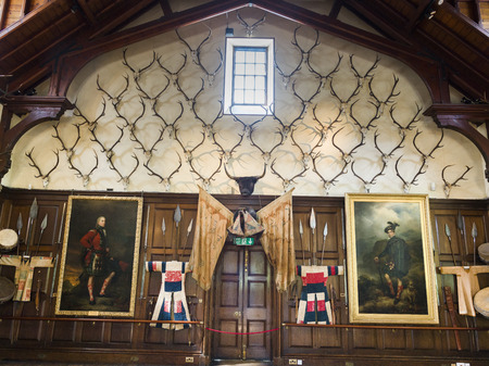 scottish culture: Interior of the Blair Castle, Blair Atholl, Perthshire, Scotland