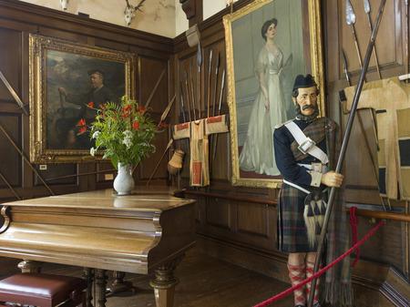 roped off: Interior of the Blair Castle, Blair Atholl, Perthshire, Scotland