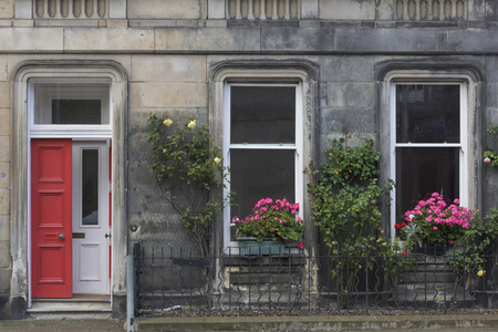 scottish culture: Facade of a building, St Andrews, Fife, Scotland Stock Photo