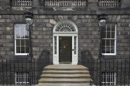 Facade of a building, Charlotte Street, Edinburgh, Scotland