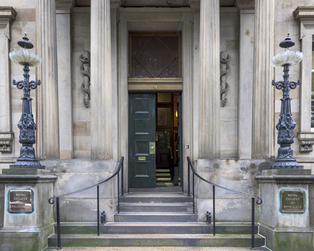 entranceway: Facade of the Royal College of Physicians of Edinburgh, Queen Street, Edinburgh, Scotland
