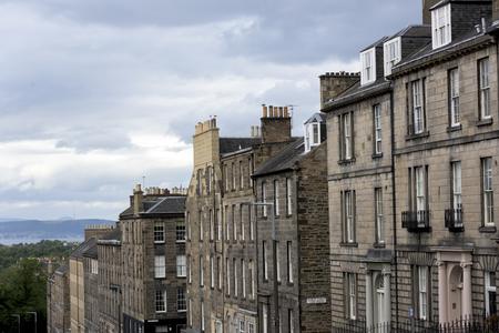 High angle view of buildings, Edinburgh, Scotland Stock Photo