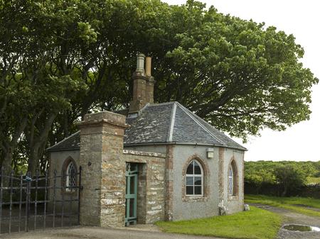 entranceway: Guard House and Gate, Castle of Mey, Caithness, Scottish Highlands, Scotland