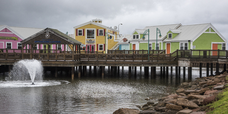 Colourful buildings in Spinnakers Landing, Summerside, Prince Edward Island, Canada