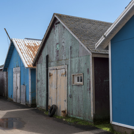 Fishing sheds at harbor, Kensington, Prince Edward Island, Canada