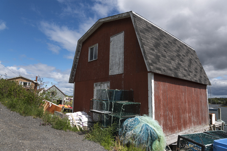 Fishing sheds at harbor, West Dover, Halifax, Nova Scotia, Canada