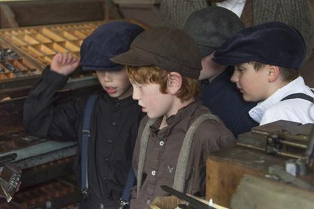 Students in class, Sherbrooke, Nova Scotia, Canada