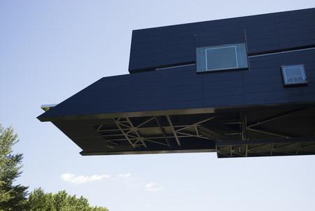 High section of a building against sky, Minneapolis, Hennepin County, Minnesota, USA 版權商用圖片