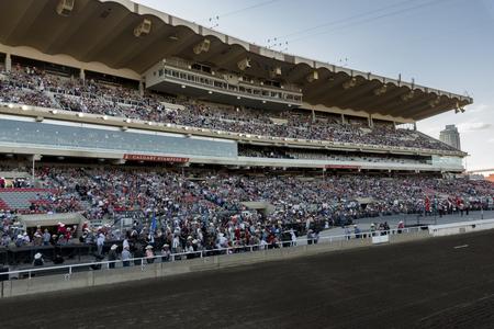 calgary stampede: Spectators at the annual Calgary Stampede, Calgary, Alberta, Canada