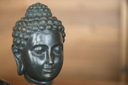 Statue of the Buddha, Lake of The Woods, Ontario, Canada Imagens - 79400131