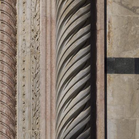 시에나 대성당, 시에나, 투스카니, 이탈리아 조각 세부 정보 스톡 콘텐츠