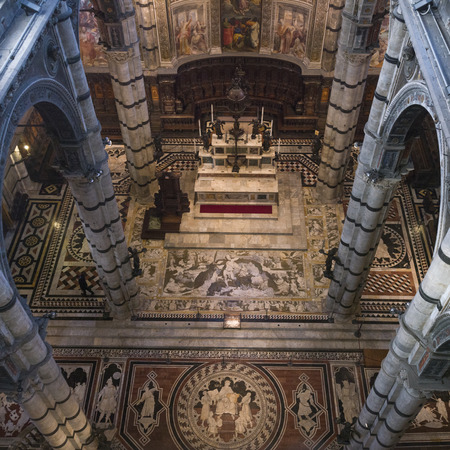 Interior of Siena Cathedral, Siena, Tuscany, Italy