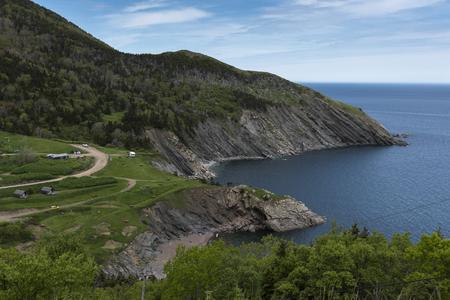 Scenic view of coastline, Meat Cove, Cabot Trail, Cape Breton Island, Nova Scotia, Canada