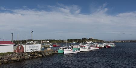 Fischerboote machten am Hafen, Main-a-Dieu, Kap-Breton-Insel, Neuschottland, Kanada fest