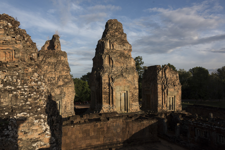 the collapsing: Elevated view of Pre Rup temple, Krong Siem Reap, Siem Reap, Cambodia