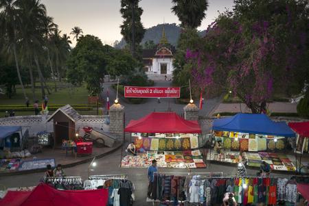 Street market in town, Luang Prabang, Laos