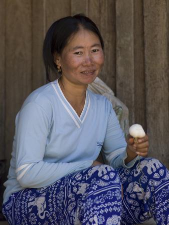 Portrait of woman smiling, Ban Houy Phalam, Laos