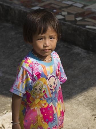 Portrait of a girl, Chiang Rai, Thailand Редакционное