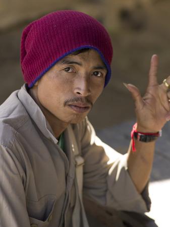 Portrait of man, Chiang Rai, Thailand Editorial