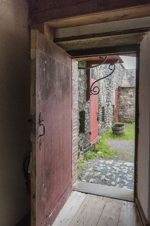 Entrance doorway at Fortress of Louisbourg, Louisbourg, Cape Breton Island, Nova Scotia, Canada
