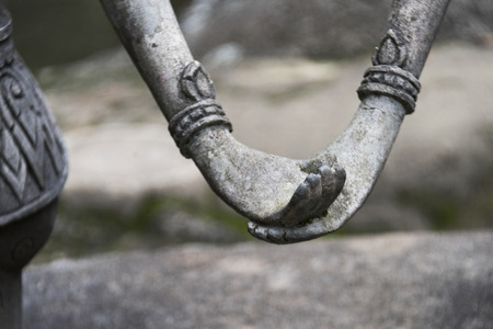 Close-up of hands of statues in Heavens Garden, Koh Samui, Surat Thani Province, Thailand Stock Photo