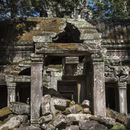 Ruins of temple, Krong Siem Reap, Siem Reap, Cambodia Banque d'images