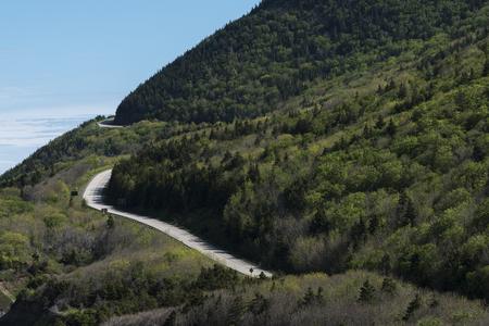 Scenic view of a mountain road, Pleasant Bay, Cape Breton Highlands National Park, Cape Breton Island, Nova Scotia, Canada