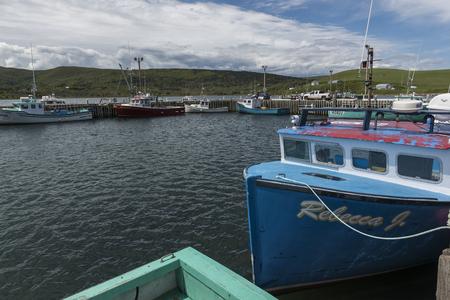 Fischtrawler machten am Hafen, St. Francis Harbour, Kap-Breton-Insel, Neuschottland, Kanada fest